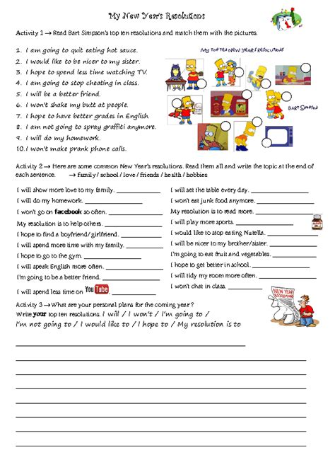 new year activity book pdf new year s resolutions