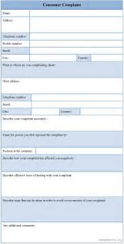 Complaint Forms Template by Customer Complaint Form Sle Customer Complaint Form