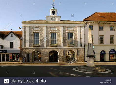 buy house in marlow the old market house situated on a traffic roundabout in marlow town stock photo