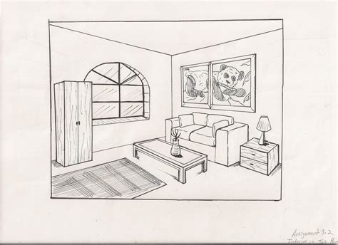 living room drawing by kj on deviantart - Wohnzimmer Zeichnung