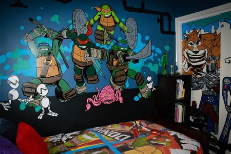 tmnt bedroom ideas hand painted by myself teenage mutant ninja turtle
