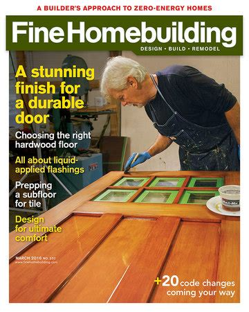 fine homebuilding magazine magazine fine homebuilding