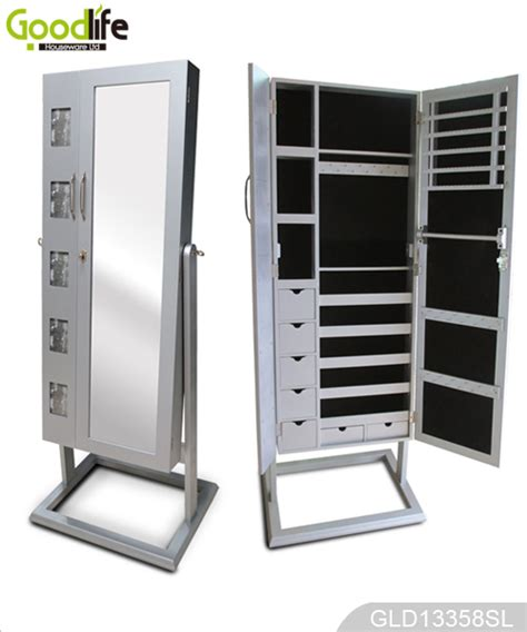 Bedroom Storage Cabinet With Mirror Bedroom Standing Dressing Mirror With Large Space Inside