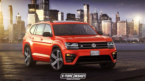volkswagen atlas r line new volkswagen atlas tries out an r suit in orange