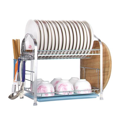 Bowl Rack drain bowl rack layer stainless steel dish rack