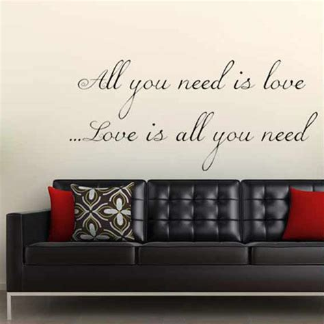 Wallpaper Sticker Dinding 315 all you need is wall sticker decal