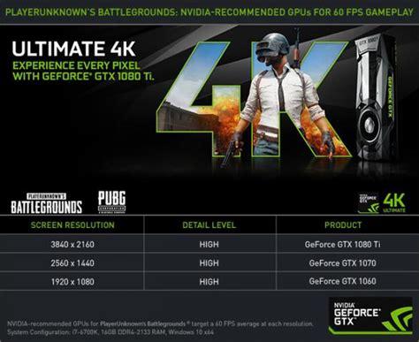 pubg 99 gpu pubg nvidia empfiehlt geforce gtx 1060 f 252 r 1080p und 60