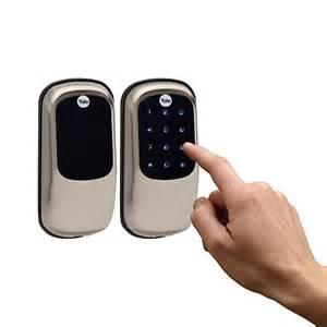 yale touchscreen door lock yale key free touchscreen deadbolt door lock 7439595 hsn