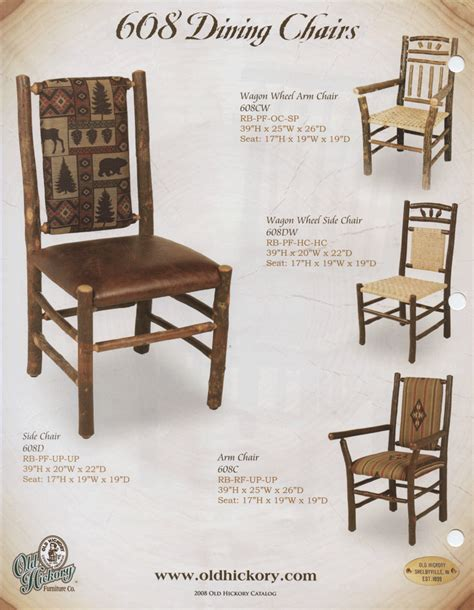 hickory dining room chairs old hickory 608 dining chairs
