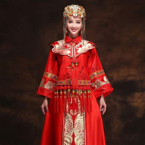 gothic wedding dresses chinese clothing chinese dress aliexpress com buy orient bride red dragon and phoenix