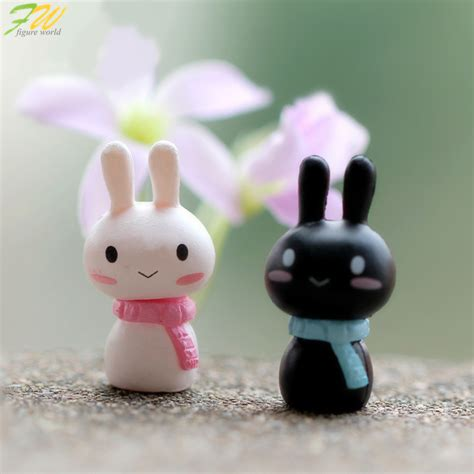 cute figurines couple rabbit miniature figurines toys cute lovely model