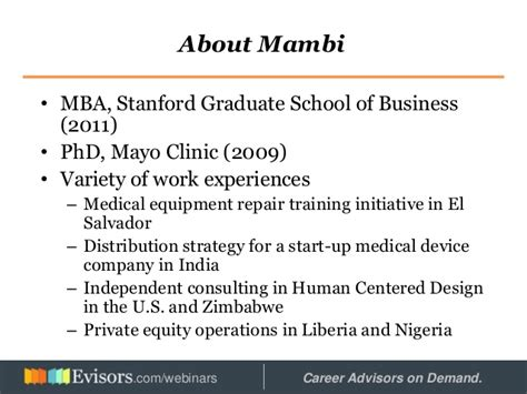 Mba Human Resources Stanford by Careers In Africa