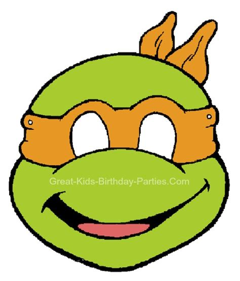 printable ninja mask free printable tmnt masks mutant ninja turtles party