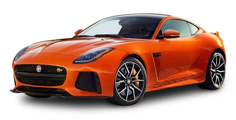 jaguar car png orange jaguar f type svr coupe car png image pngpix
