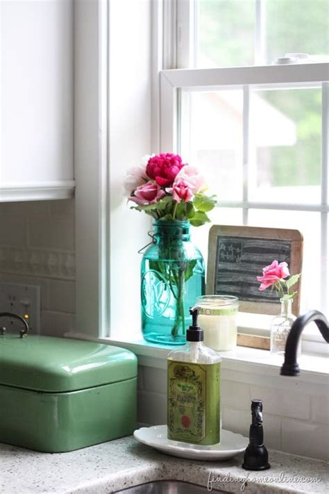 Kitchen Window Sill Ideas by Summer Home Tour Cottage Style Kitchen Window Sill And
