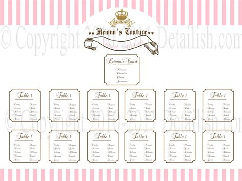 4 best images of printable blank wedding seating charts