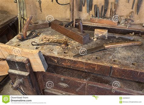 carpenters bench stock image image  craft tool