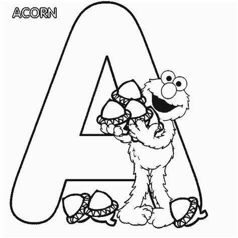 free coloring book printouts elmo alphabet coloring pages coloring home