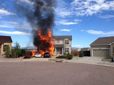 house fires two cars home destroyed in eastern colorado springs house fire colorado springs