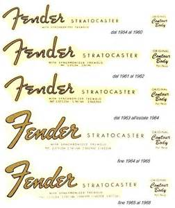 guitar decal stratocaster logo history