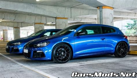volkswagen scirocco r modified vw scirocco r modified blue cars mods