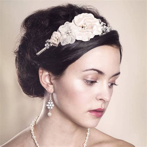 Handmade Wedding Headpieces - handmade marguerite wedding headpiece by rosie willett