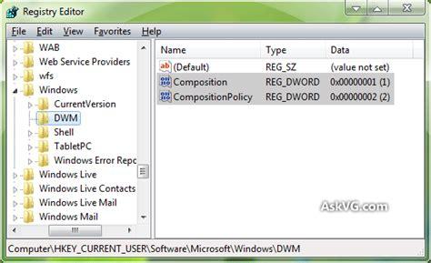 windows 7 desktop themes registry registry tweak to enable activate aero glass theme in