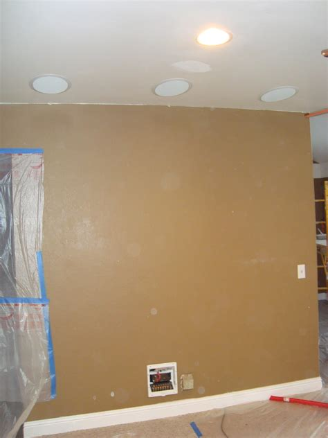 5 1 home theater in ceiling speaker installation before