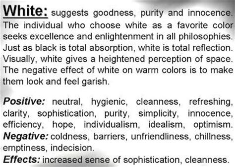 white meaning white color psychology