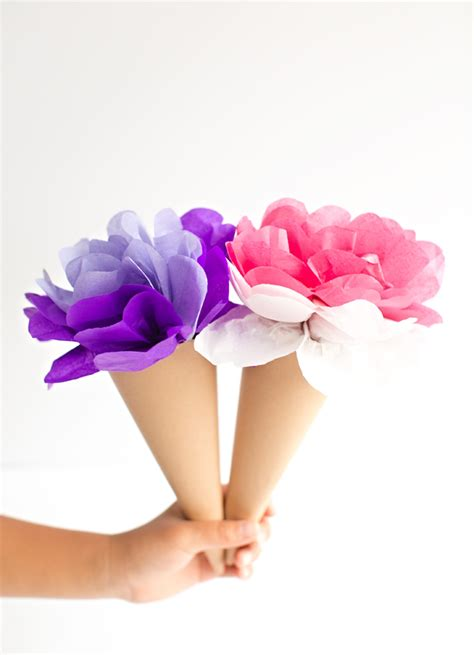 Tissue Paper Flowers In Vase by Hello Wonderful Make Tissue Paper Cone Flowers