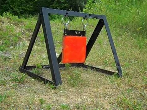 swinging target how to make a swinging steel target no welding how to