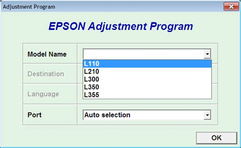 Printer Epson L210 Dan L350 resetter epson l110 l210 l300 l350 l355 mudah