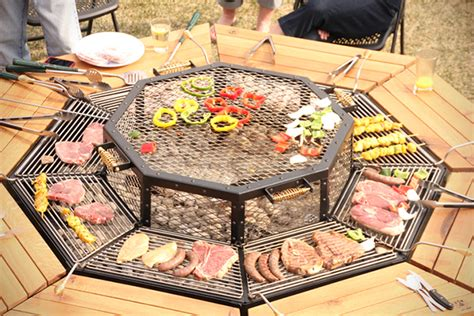 build pit grill table jag grill bbq table hiconsumption
