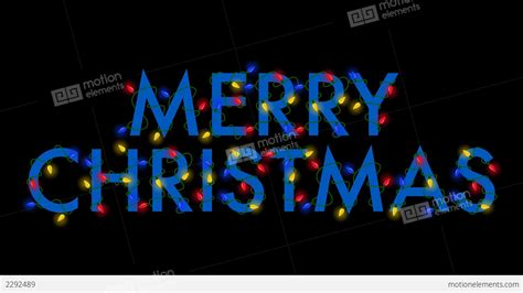 merry christmas lights blue stock animation 2292489