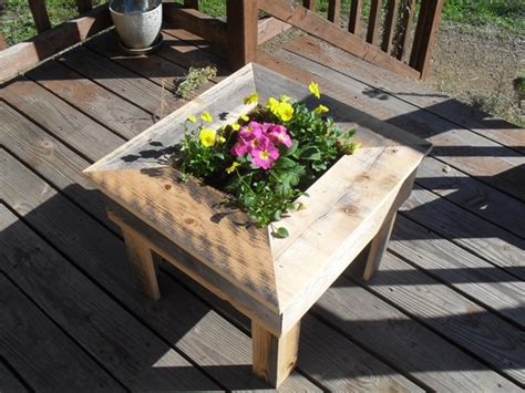 Patio Table Flower Planters by Thinkeco 178 Launches Handcrafted Eco Friendly Patio Tables