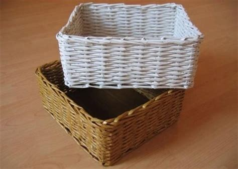 How To Make A Woven Basket Out Of Paper - home dzine craft ideas make rolled paper wicker baskets