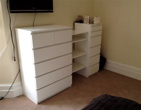 ikea malm hacks ikea malm drawers besta shelf hack by flat pack dan