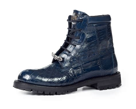 mauri sneakers for mauri commando 4637 alligator boots blue