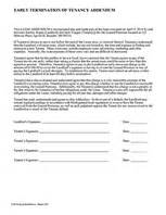 Lease Addenda Rental Agreement Addenda Ez Landlord Forms Lease Addendum Template