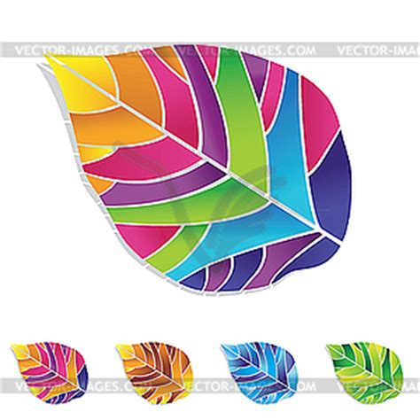 Colors Splash Colorful Leaf Clip Art 55