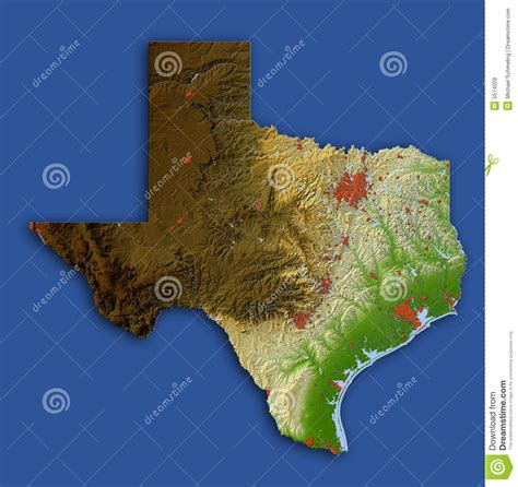 relief map of texas texas relief map royalty free stock images image 5574029