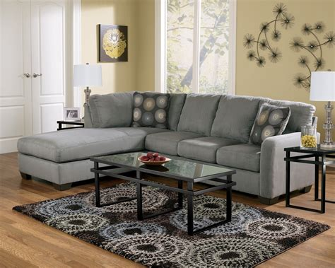 zella charcoal left arm facing sectional
