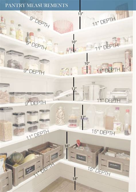 all white pantry design with measurments to help you diy
