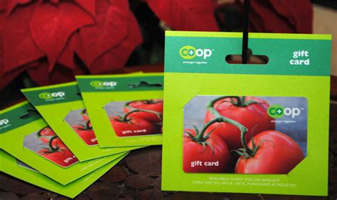 Co Op Gift Card - co op gift cards valley community food co op inc