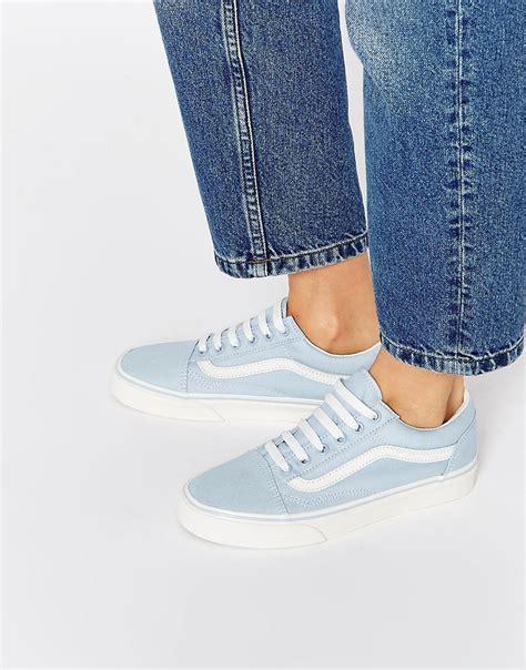 Sepatu Vans Slip On Blue Sneakers Femme Vans Skool Blue Vans