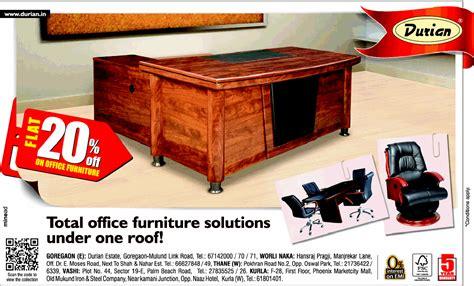 durian office furniture flat 20 off mumbai saleraja