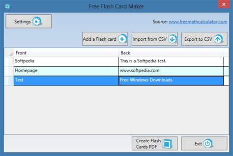 flash card maker and tester make flash cards program download