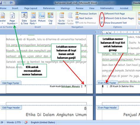 layout buku word membuat layout buku dengan ms word tulisan khozin 99
