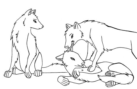 wolves coloring pages anime wolf howling line sketch coloring page