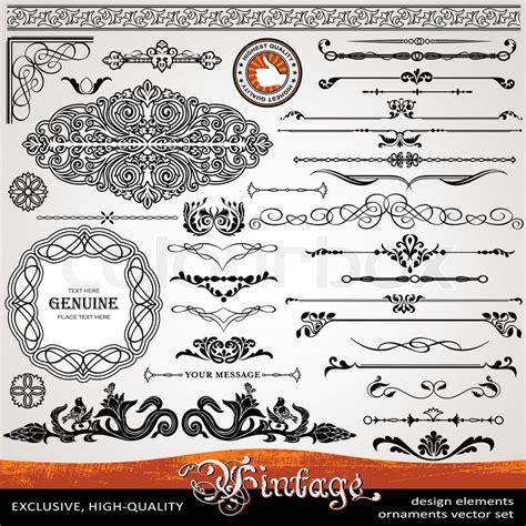 calligraphic vintage design elements vector illustration vintage ornaments and dividers calligraphic design